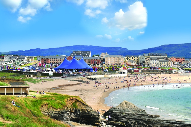 The Sea Sessions campsite on beautiful Bundoran Beach